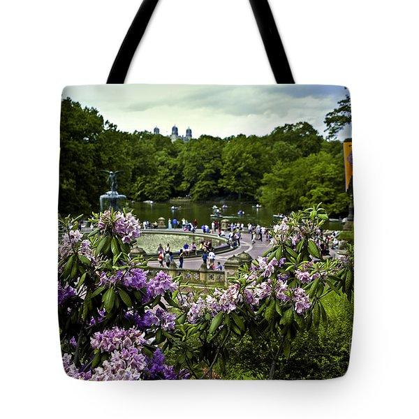 Around Bethesda Fountain Tote Bag by Madeline Ellis