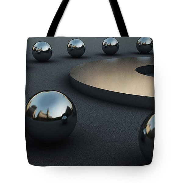 Tote Bag featuring the digital art Around Circles by Richard Rizzo