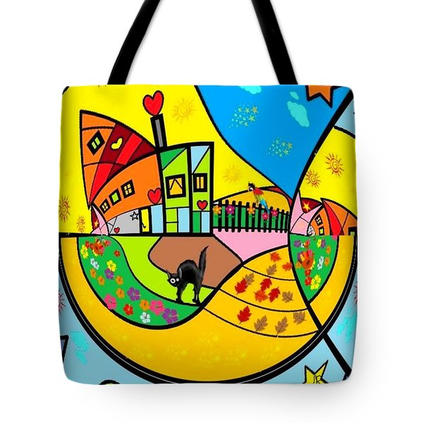 Around The World By Nico Bielow Tote Bag by Nico Bielow