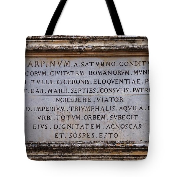 Arpinium Tote Bag by Dany Lison