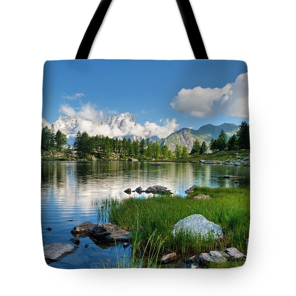 Tote Bag featuring the photograph Arpy Lake - Aosta Valley by Antonio Scarpi