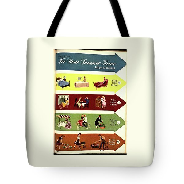 Arrows And Illustrations Tote Bag