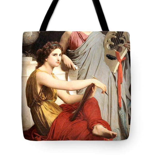 Art And Literature Tote Bag by William Bouguereau