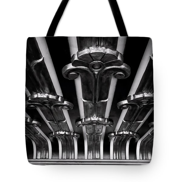 Art Deco At The Henry Fonda Bw Tote Bag