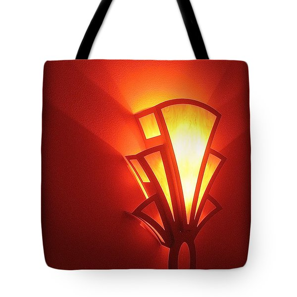 Tote Bag featuring the photograph Art Deco Light Fox Tucson Arizona  Theater  2006 by David Lee Guss