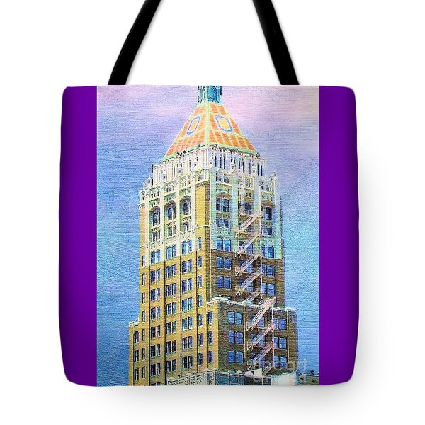 Art Deco Lives At Philtower Tote Bag by Janette Boyd