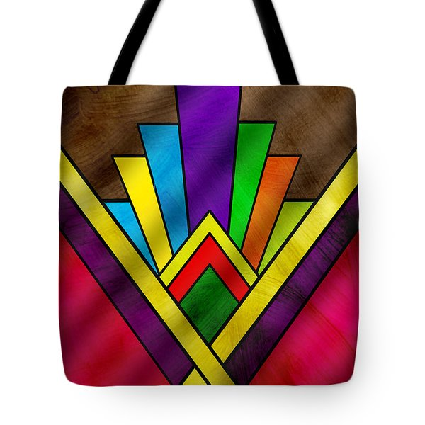 Art Deco Pattern 7v Tote Bag