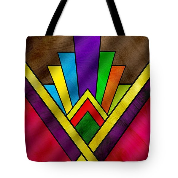 Art Deco Pattern 7v Tote Bag by Chuck Staley