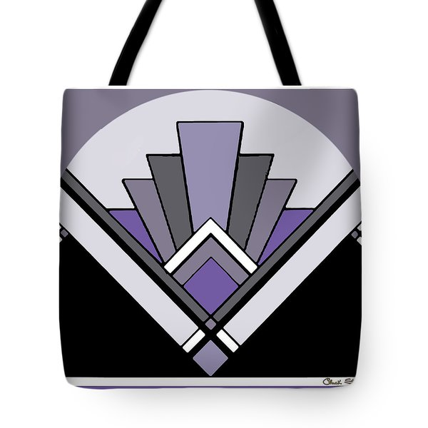 Art Deco Pattern Two - Purple Tote Bag by Chuck Staley