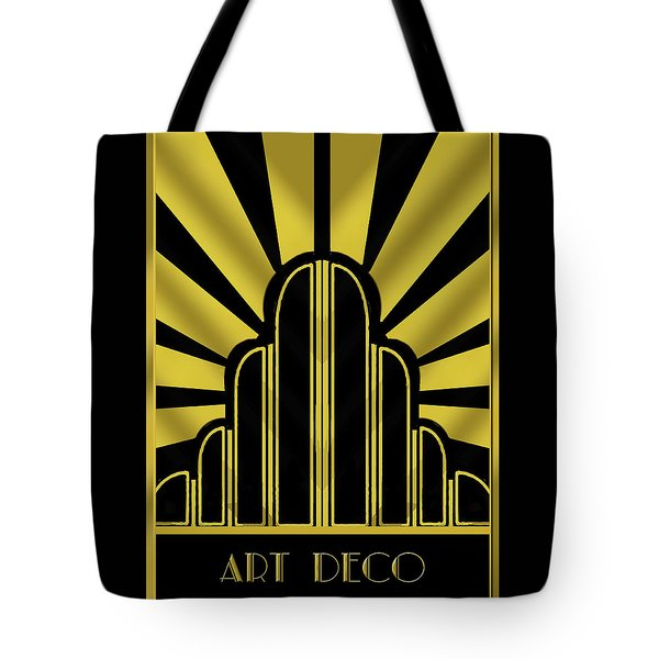 Art Deco Poster - Title Tote Bag by Chuck Staley