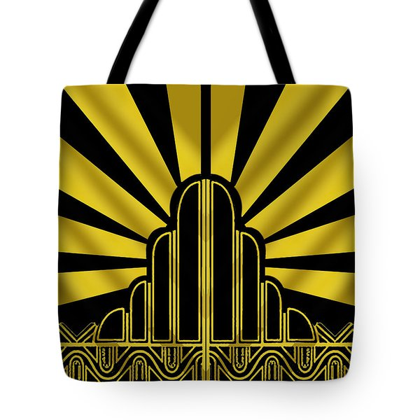 Art Deco Poster - Two Tote Bag by Chuck Staley