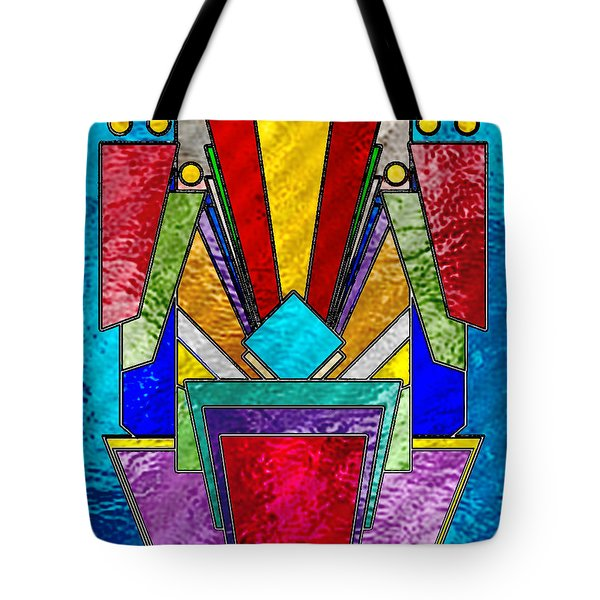 Art Deco - Stained Glass 6 Tote Bag by Chuck Staley