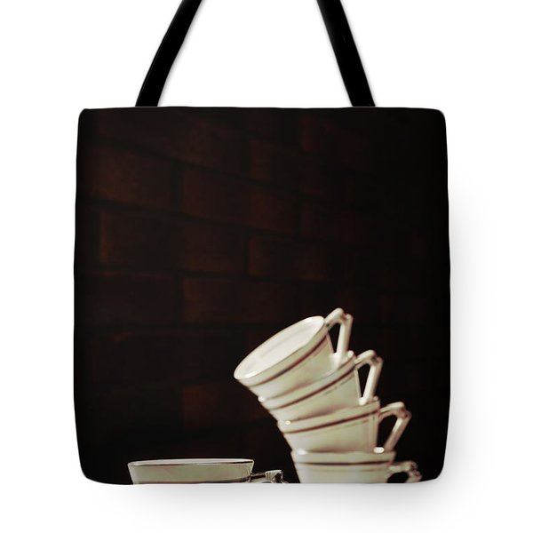 Art Deco Teacups Tote Bag by Amanda Elwell