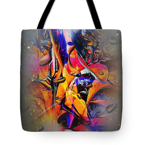 Art-flowers By Nico Bielow Tote Bag by Nico Bielow
