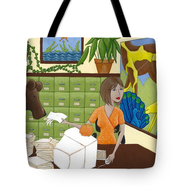 Art For The Office Tote Bag by Christy Beckwith