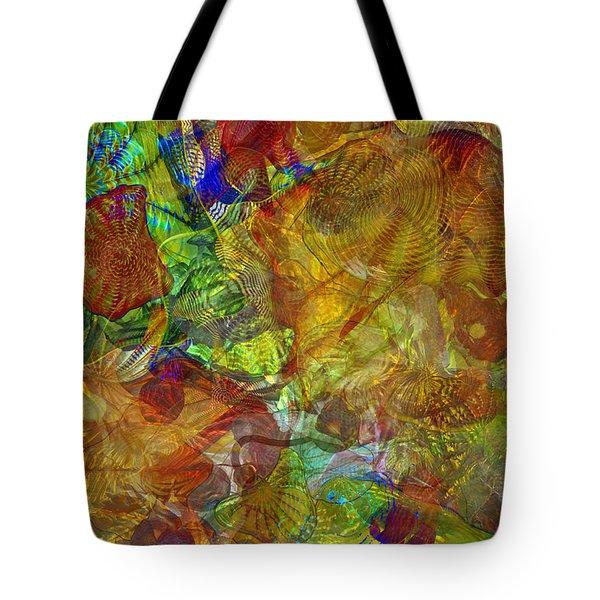 Art Glass Overlay Tote Bag