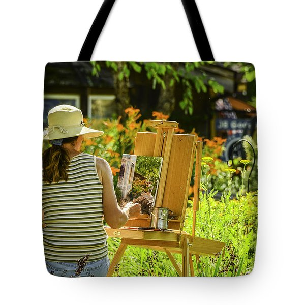 Art In The Garden Tote Bag by Mary Carol Story