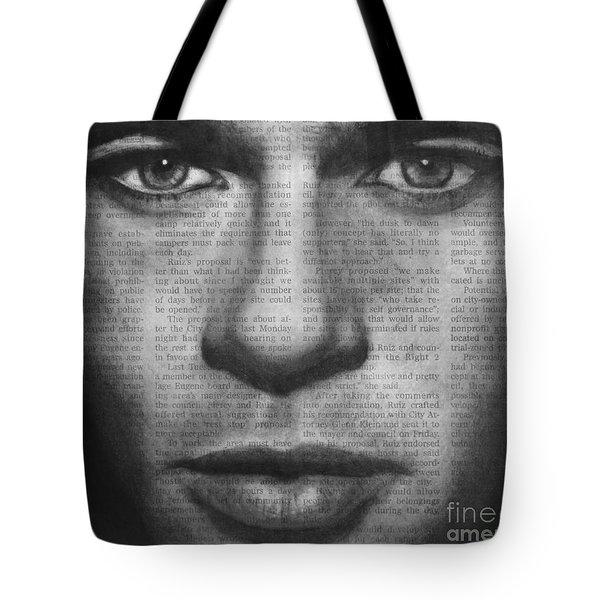 Art In The News 32- Brad Pitt Tote Bag