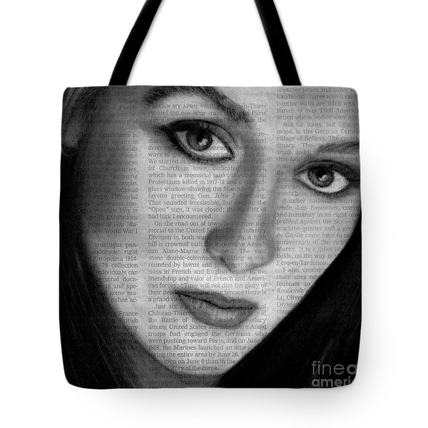 Art In The News 34- Meryl Streep Tote Bag