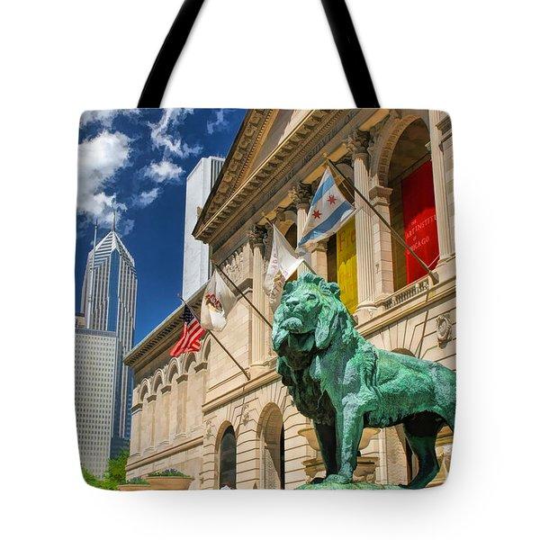 Art Institute In Chicago Tote Bag