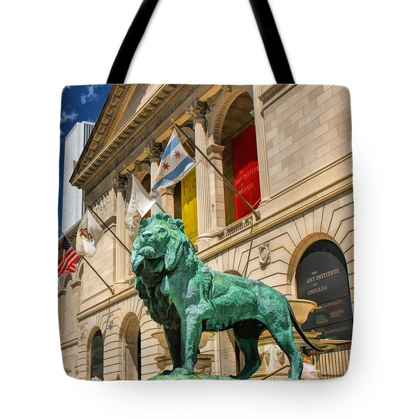 Art Institute In Chicago Tote Bag by Christopher Arndt