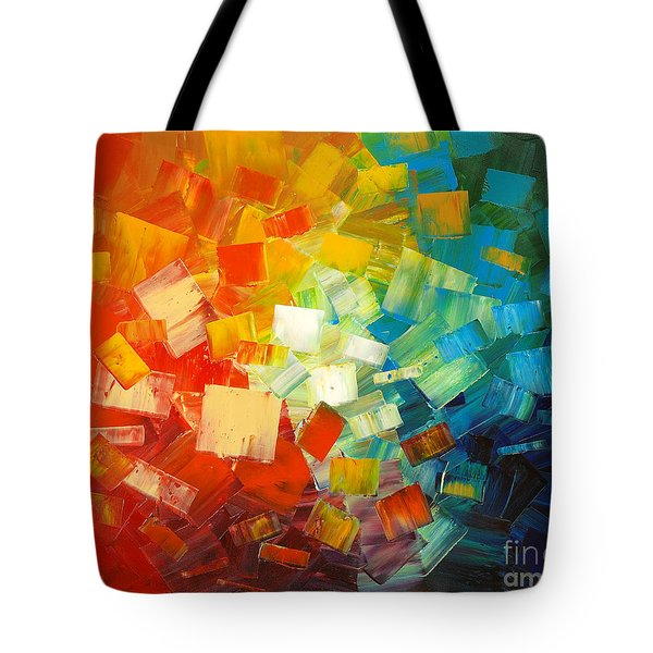 Tote Bag featuring the painting Art Lovers by Tatiana Iliina