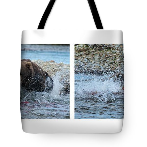 Art Of Catching Salmon  Tote Bag by Dan Friend