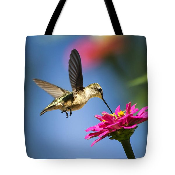 Art Of Hummingbird Flight Tote Bag