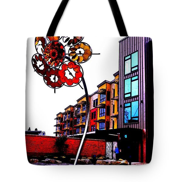 Tote Bag featuring the photograph Art On The Ave by Sadie Reneau