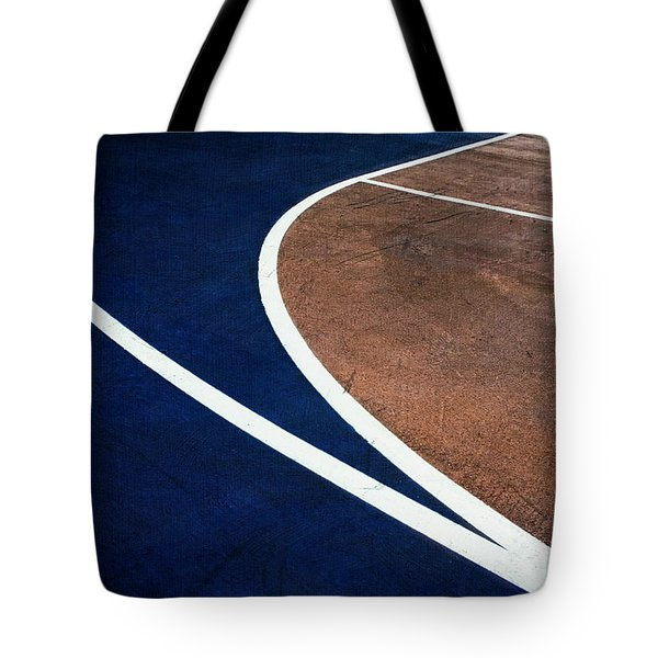 Art On The Basketball Court  11 Tote Bag