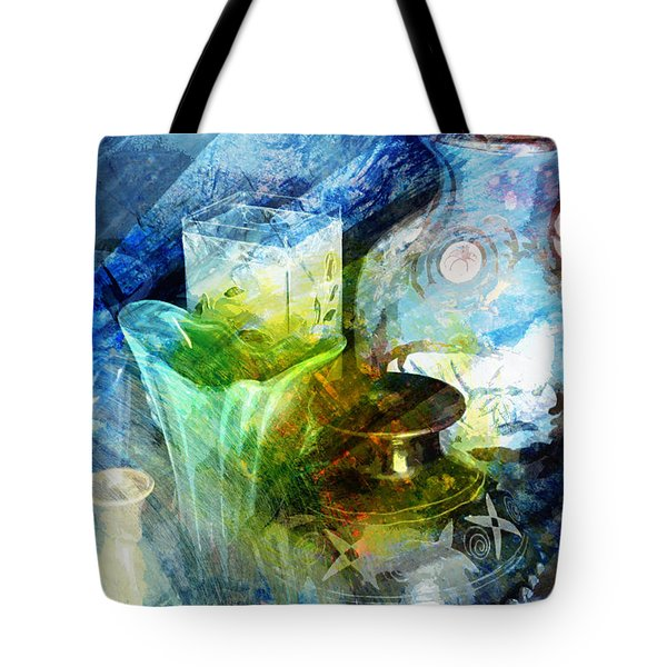 Art Pottery Still Life In Light And Color Tote Bag