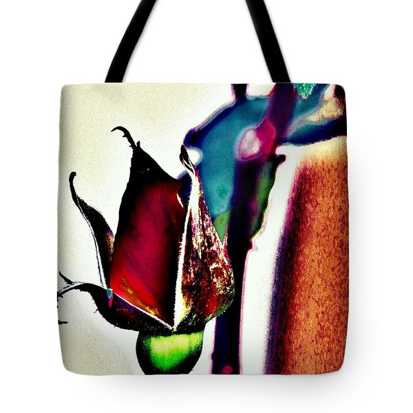Tote Bag featuring the photograph Artful Bud by Faith Williams