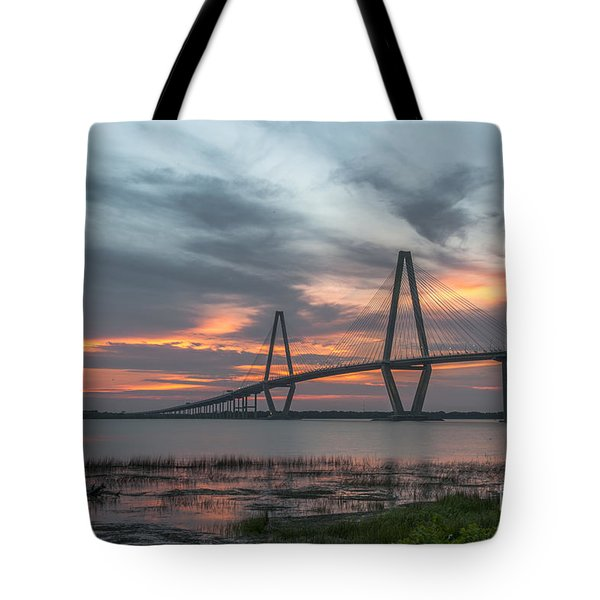 Orange Nebulous Tote Bag by Dale Powell