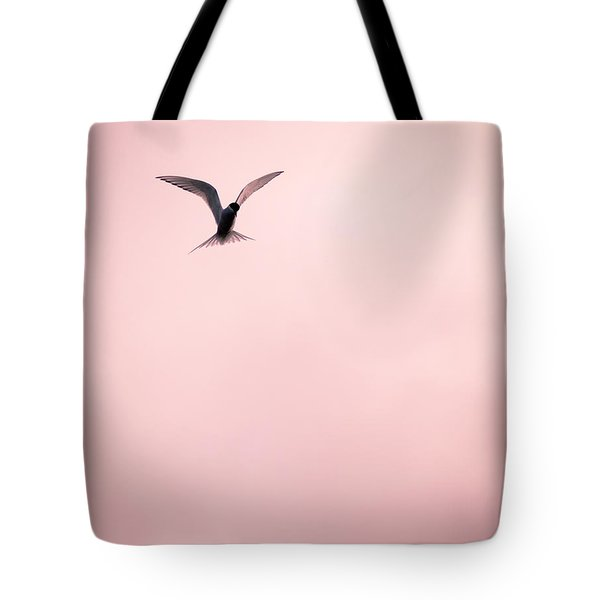 Tote Bag featuring the photograph Artic Tern High In The Sky by Peta Thames