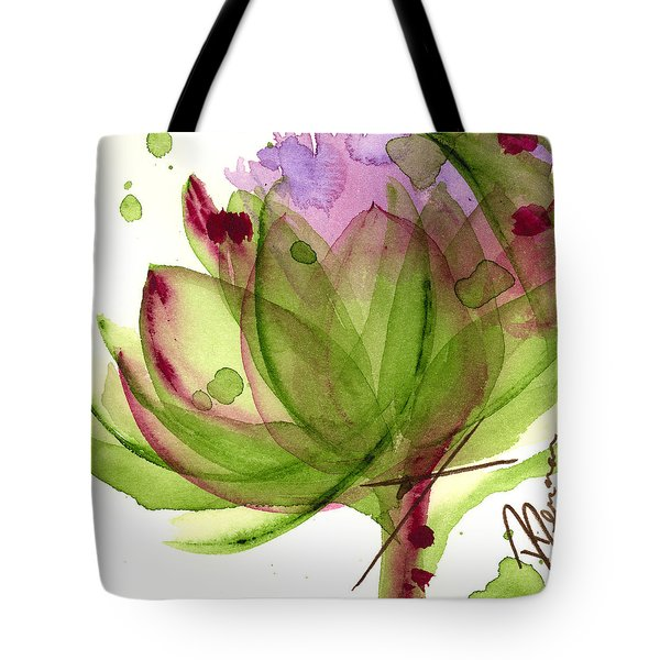 Artichoke Flower Tote Bag by Dawn Derman