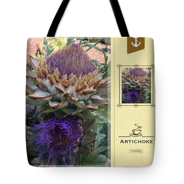 Artichoke In The Herb Garden Tote Bag