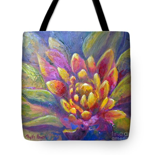 Tote Bag featuring the painting Artichoke Leaves by Phyllis Howard