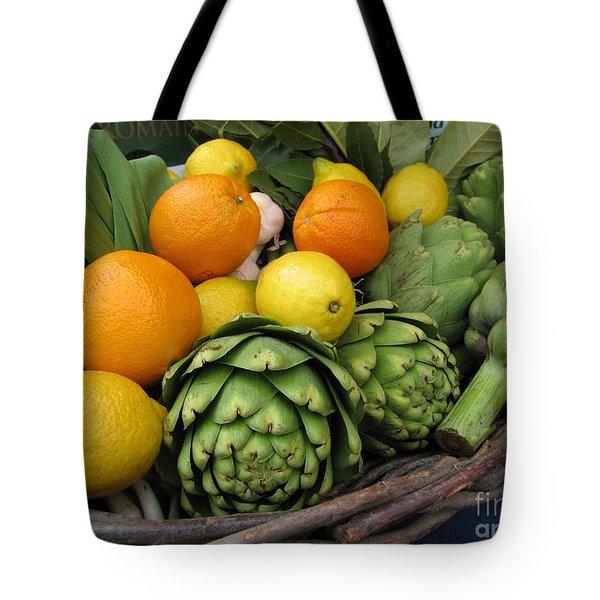 Artichokes Lemons And Oranges Tote Bag