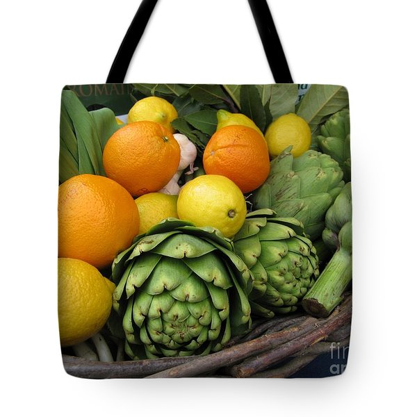 Artichokes Lemons And Oranges Tote Bag
