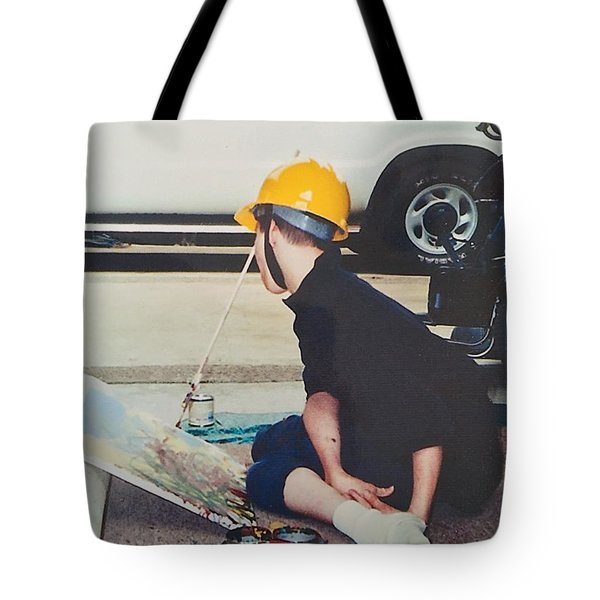 Artist At 16 Yrs Old Tote Bag by Donald J Ryker III