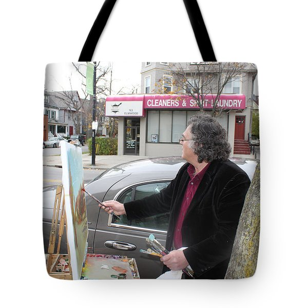 Artist At Work Buffalo Tote Bag by Ylli Haruni
