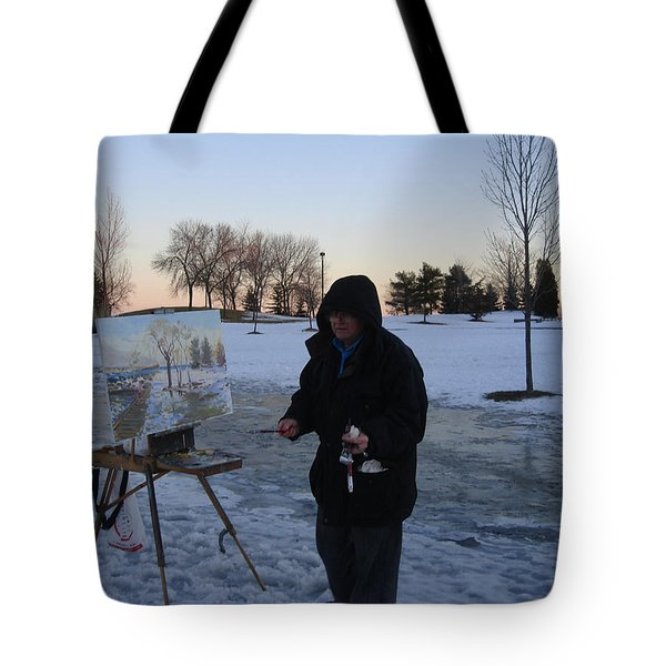 Artist At Work Lake Shore Mississauga On Tote Bag