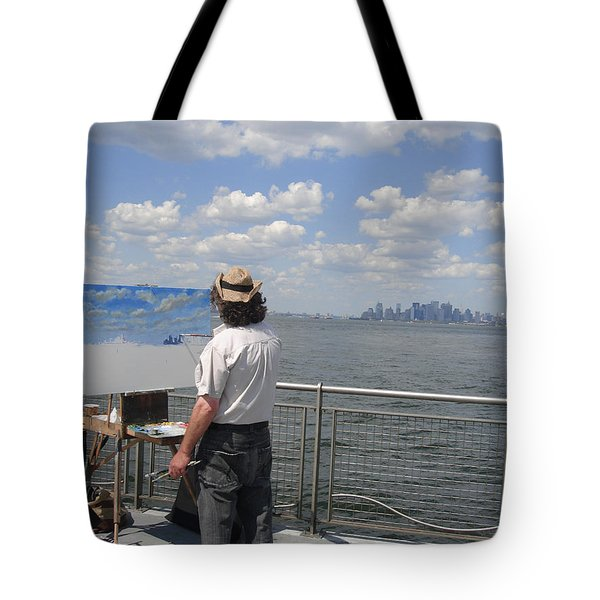 Artist At Work Manhattan  Tote Bag