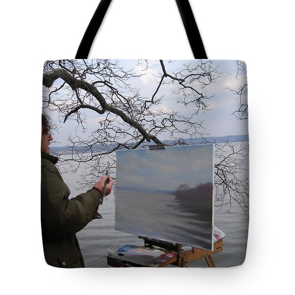 Artist At Work Nyack Park Ny Tote Bag