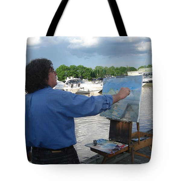 Artist At Work Port Credit Mississauga On Tote Bag