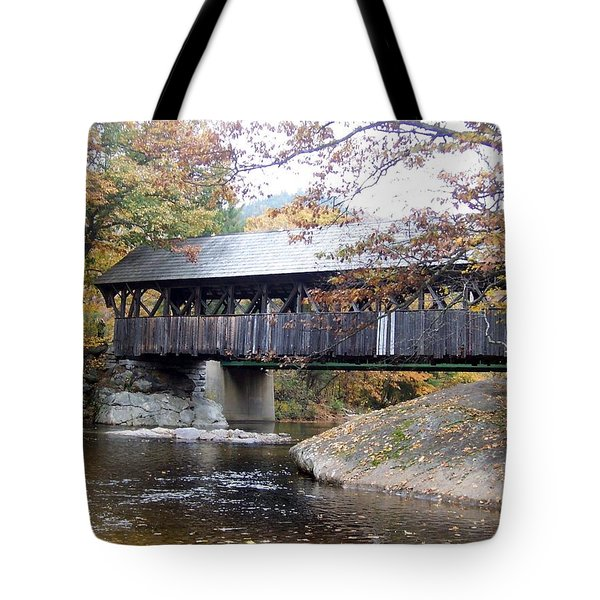 Artist Covered Bridge Tote Bag by Catherine Gagne