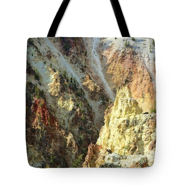 Artist Palette Of Yellowstone Tote Bag by Kathleen Struckle