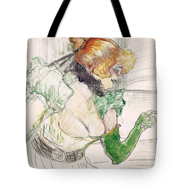 Artist With Green Gloves - Singer Dolly From Star At Le Havre Tote Bag by Henri de Toulouse Lautrec