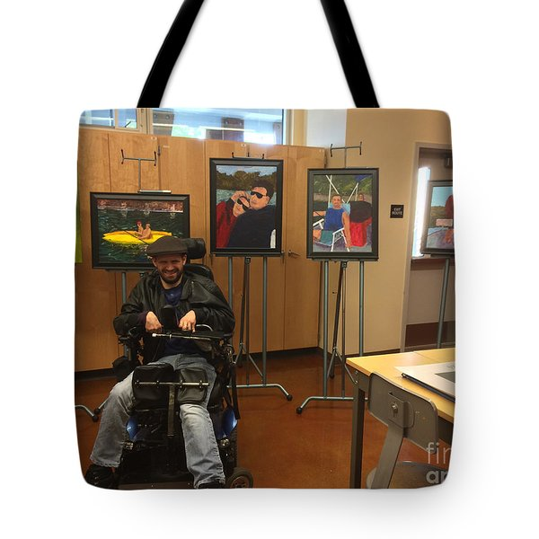 Artist With Lake Series Tote Bag by Donald J Ryker III