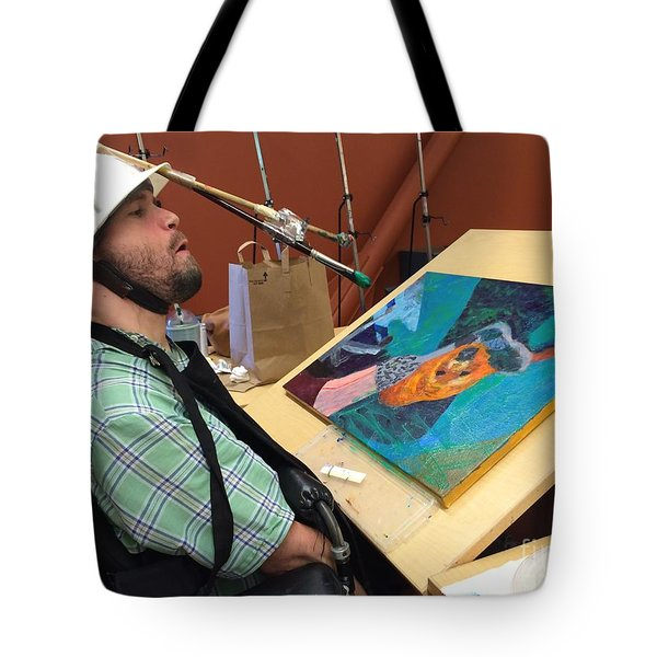 Artist Working Tote Bag by Donald J Ryker III